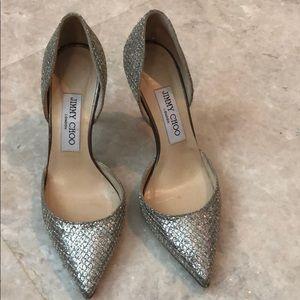 Jimmy choo cinderella sparkle heels 36.5